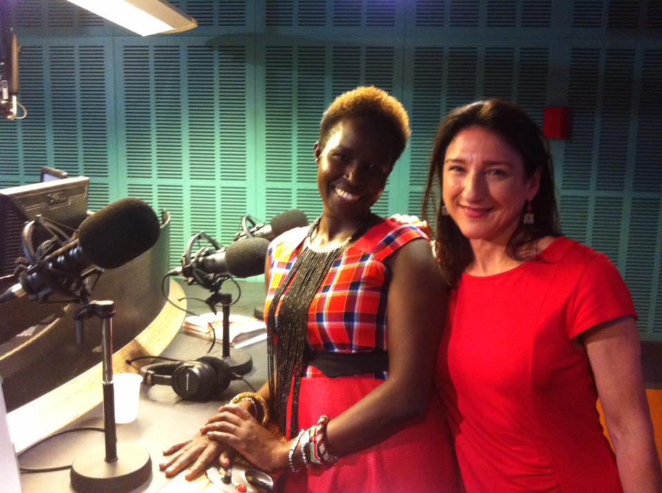 Dr Kakenya Ntaiya with ABC World Today radio presenter Eleanor Hall